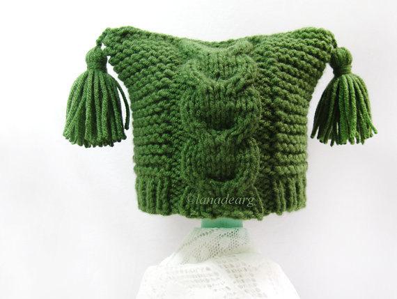 Pattern baby newborn hat green