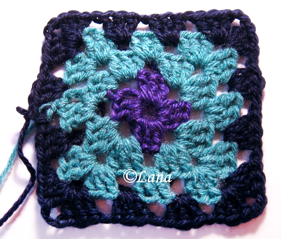 How to crochet a easy square
