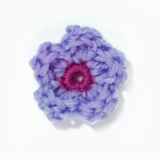 Crochet flower appliqué free pattern