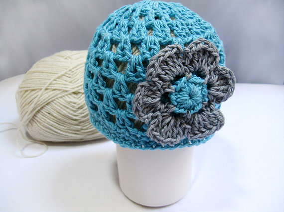 Crochet Pattern Newborn Beanie with Flower