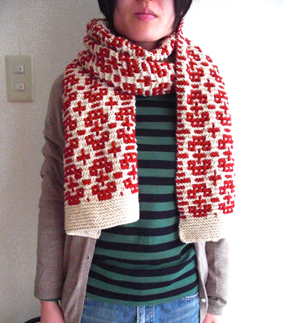 Knitted scarf free pattern