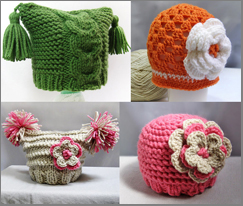 Baby hats, headbands