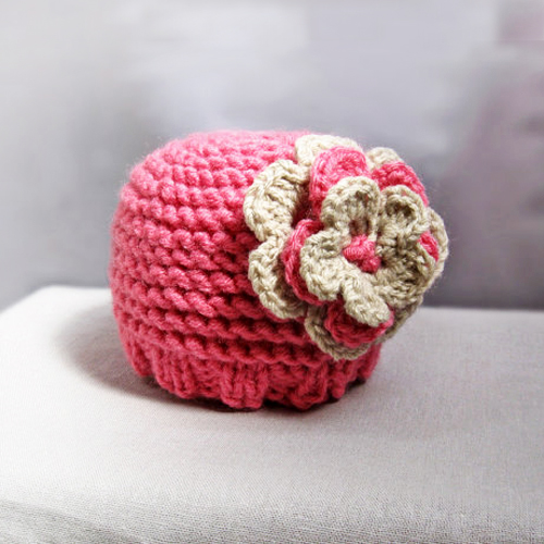 Knit Newborn Baby Hat Pattern 0-3 and 6-12 month in PDF n31