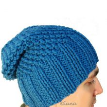 Knitting pattern hat men, winter hat men pattern
