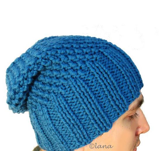Knitting pattern hat men, winter hat men pattern