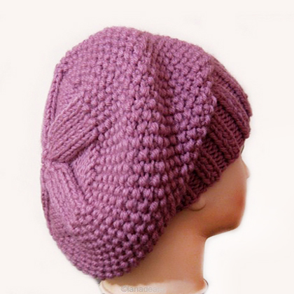 Knitting Pattern Hat Slouchy Beret For Women N18 Gifts Shop