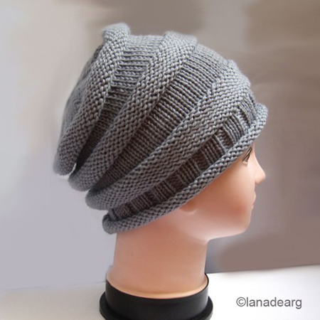"knit hat pattern slouchy"" height="