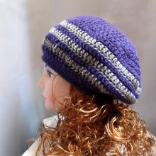 Crochet Hat Pattern: Beret Slouch Pattern in PDF