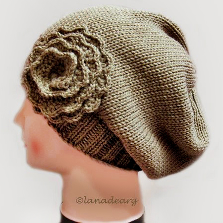 Knitting pattern hat slouchy women