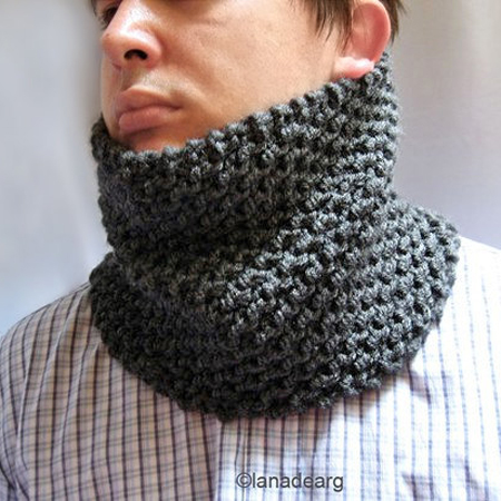 Knitting Pattern Scarf Neck Warmer : Pattern in PDF knitted cowl chunky scarf neck warmer n25   Gifts shop