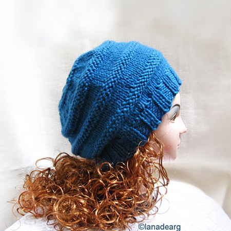 Knitting Pattern Hat Beanie Beret, winter women knit hat
