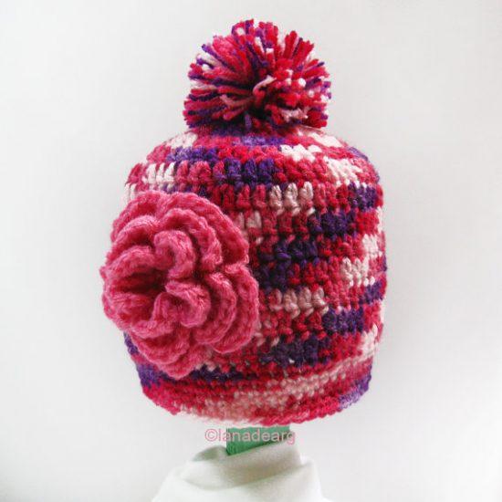 Easy pattern crochet baby hat