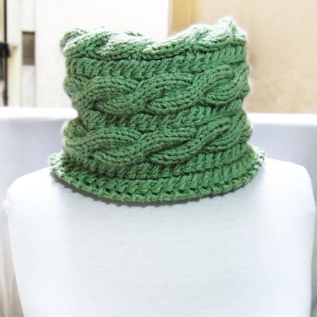 knit cowl pattern, knit neckwarmer pattern