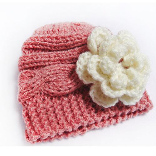 Baby Knit Hat- Knit Newborn Hat- Baby Girl Knit Hat