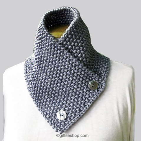Knitting Easy Pattern Scarf Neck Warmer : Knitting Pattern Scarf Neck Warmer- Knit Men s Scarf Pattern for Beginners N9...