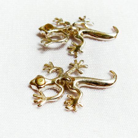 Sterling Silver Earrings-Lizard Earrings Stud- Animal Earrings