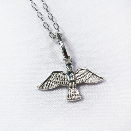 Sterling silver Bird necklace-silver chain necklace