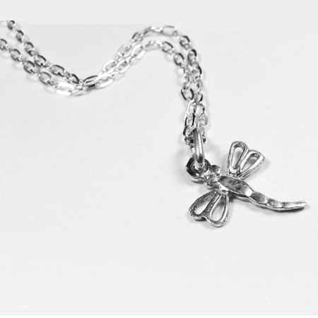 Sterling Silver Dragonfly Necklace, Pendant Necklace