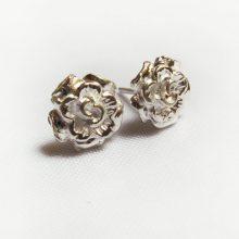flower stud earrings, earring studs, silver earrings, silver earrings online, stud earrings, silver earrings ,