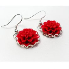 earrings for girls, earrings for women, earrings silver, floral earrings, flower earring, flower earrings, garden earrings, long earrings, pink earrings, silver earring, silver earrings