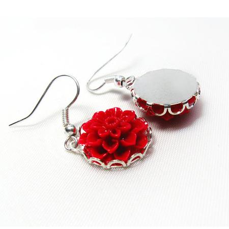 earrings for girls, earrings for women, earrings silver, floral earrings, flower earring, flower earrings, garden earrings, long earrings, pink earrings, silver earring, silver earrings