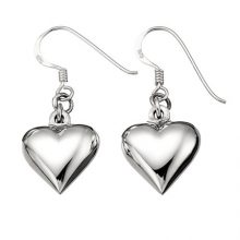 silver earrings, silver earrings online, heart earrings, silver heart earrings,