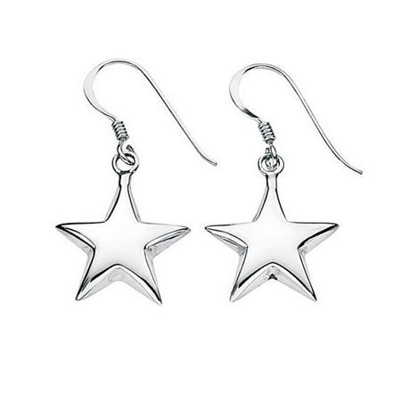 silver earrings, silver earrings online, star earrings, silver star earrings,
