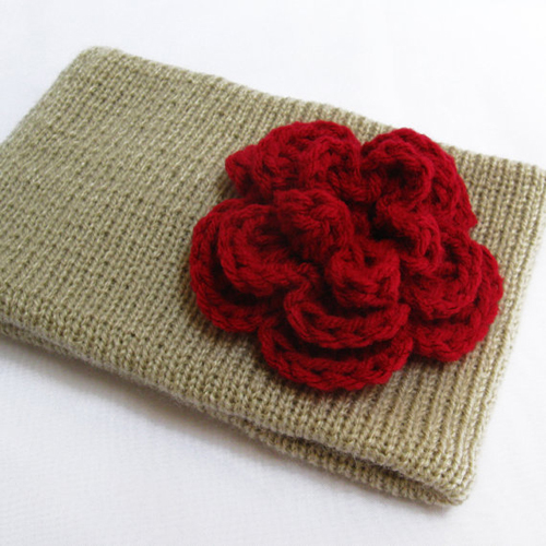 Knitting Patterns For Ear Warmers With Flower : Knitted Headband Ear Warmer, Crochet Flower Headband ...