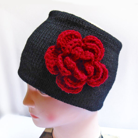 flower headbands , flower headband, knitted headband, floral headbands, winter headbands, ear warmer headband, headbands for women