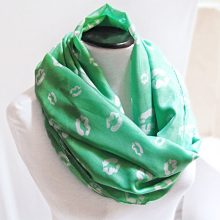 Kiss Mint Infinity Scarf- Circle Tube- Loop Circle Scarf- Mint Agua Blue