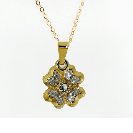 Lucky Clover Necklace- 24K Gold Plated four leaf clover pendant