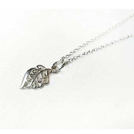 Sterling Silver Leaf Necklace, Pendant Necklace Leaf charm