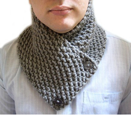 Knit Chunky Neckwarmer Cowl Neck Scarf Scarf For Men