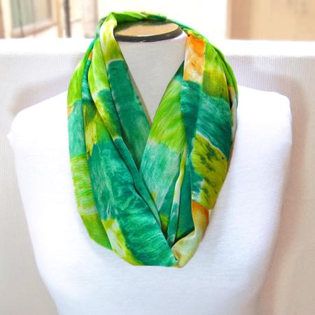 Fashion Silk Chiffon Infinity Scarf, Women Circle Scarf, Loop Scarf