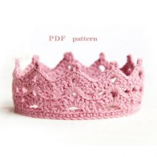crochet crown pattern, Princess or Prince crochet Crown