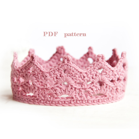 Crochet Baby Crown Pattern Princess Or Prince Crown Baby