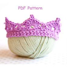 baby crown, baby photo prop, baby tiara, beginner crochet pattern, crochet baby crown pattern, easy crochet pattern, newborn crown, prince crown, princess crown