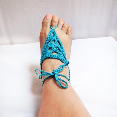 Crochet Barefoot Sandals Pattern Easy Yoga Sandals Summer Beach