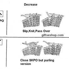 Knitting decrease