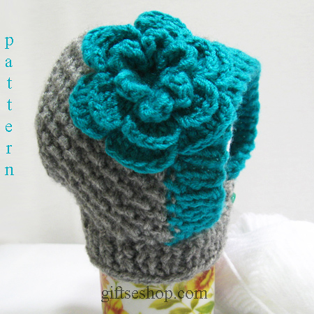 Baby Hat Bonnet Knitting Pattern — Baby Bonnet Pattern, Photo prop