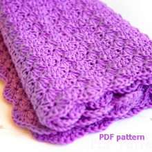Crochet baby blanket pattern — shell blanket pattern