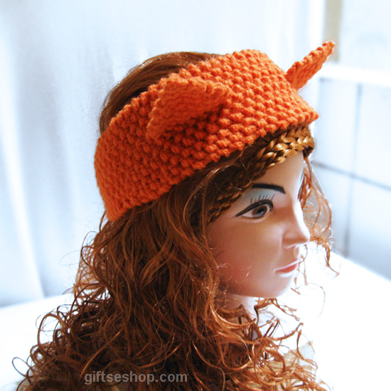 fox headband, fox headband pattern, ear warmer pattern, fox ear headband, fox ears headwrap, fox ears knit