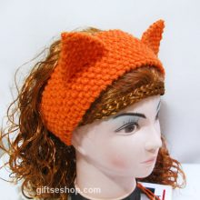Fox Headband Ear Warmer Knitting Pattern