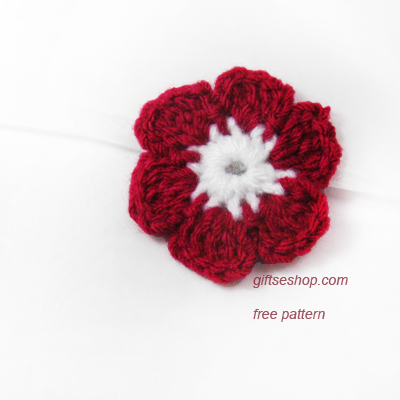 Free Crochet Flower Pattern Six Petals