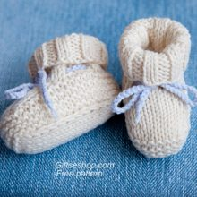 Free Knitting Pattern Baby Booties Uggs