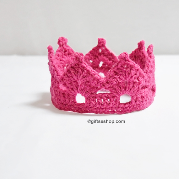 Crochet Crown Pattern Princess Tiara Headband N50 Gifts Shop