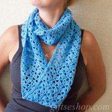 loop scarf pattern — crochet infinity scarf pattern
