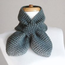 Hand Knitting Scarf , knit neck warmer