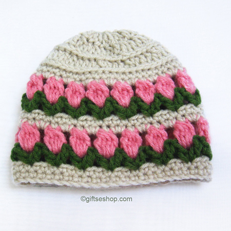 Crochet Baby Girl Hat Pattern N55 Flower Photo Prop Gifts Shop