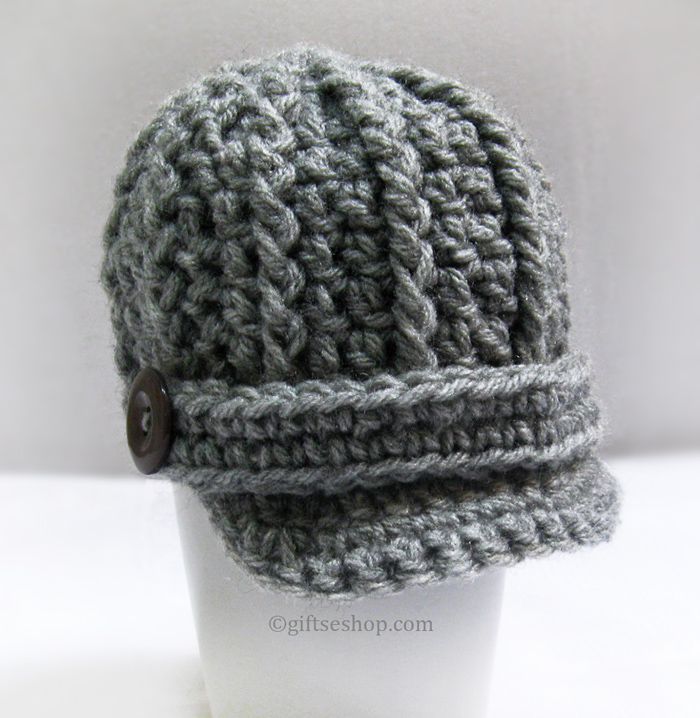 Free Crochet Pattern For Infant Newsboy Hat : Crochet pattern Baby Boy Hat- Newsboy Hat Visor Cap n54 ...